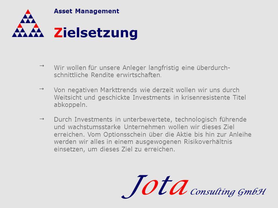 Zielsetzung Asset Management