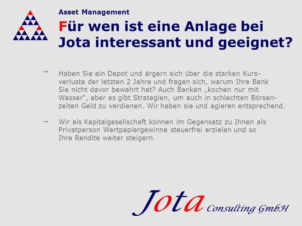 Für wen ist eine Anlage bei Jota interessant und geeignet