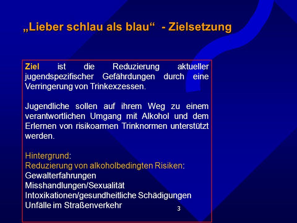 """""""Lieber schlau als blau - Zielsetzung"""