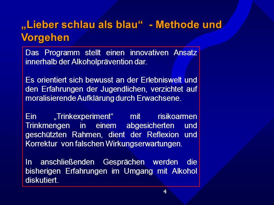 """""""Lieber schlau als blau - Methode und Vorgehen"""