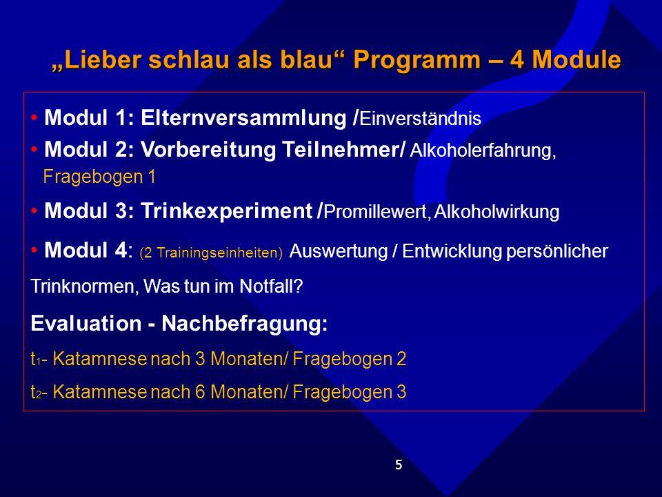 """""""Lieber schlau als blau Programm – 4 Module"""
