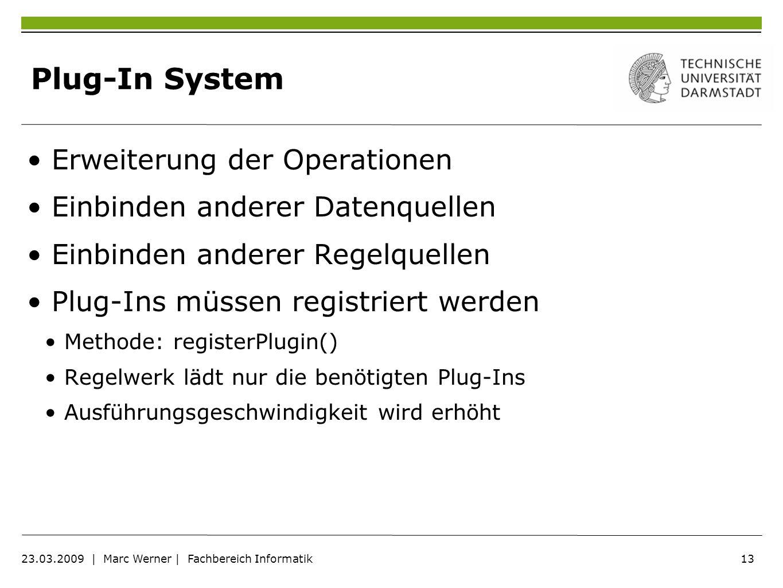 Plug-In System Erweiterung der Operationen