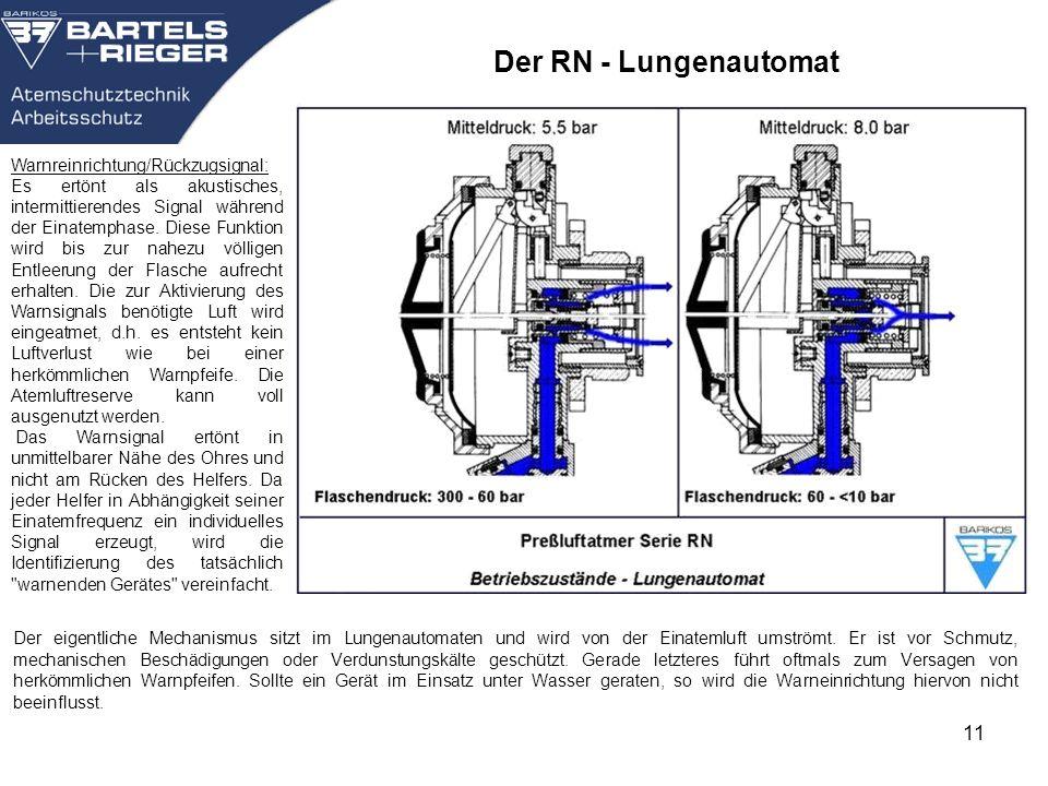 Der RN - Lungenautomat Warnreinrichtung/Rückzugsignal: