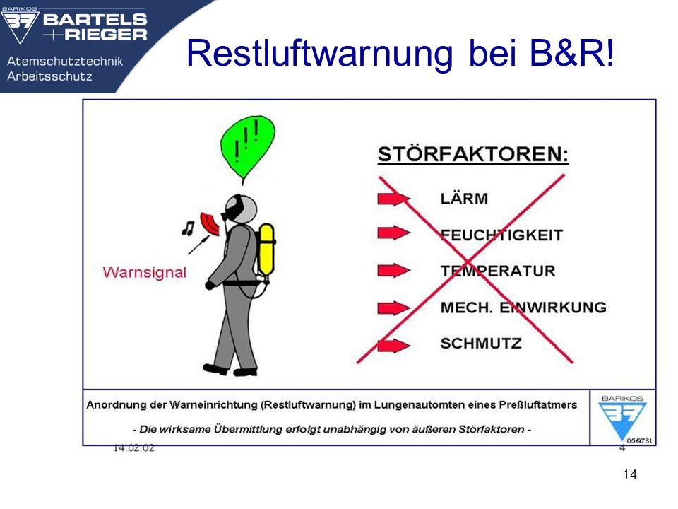 Restluftwarnung bei B&R!