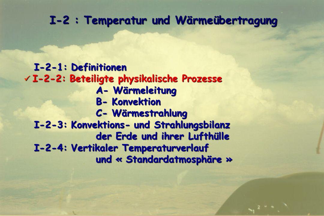I-2 : Temperatur und Wärmeübertragung