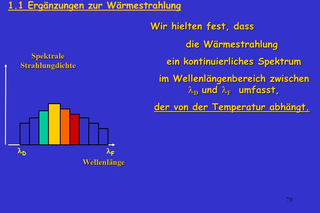 1.1 Ergänzungen zur Wärmestrahlung