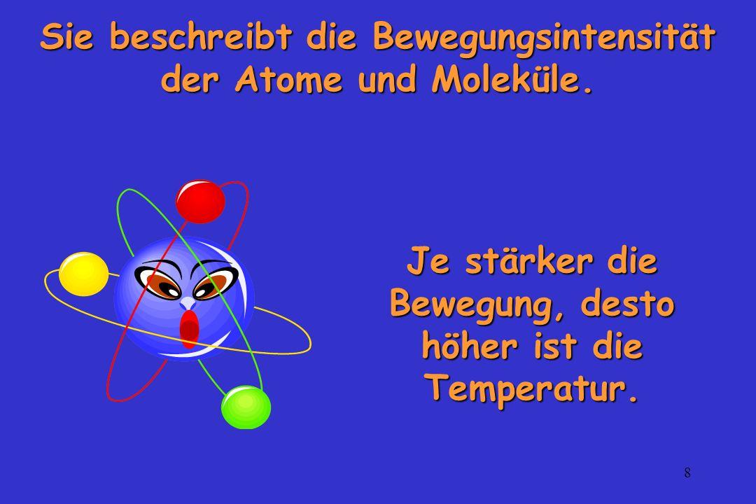 Sie beschreibt die Bewegungsintensität der Atome und Moleküle.