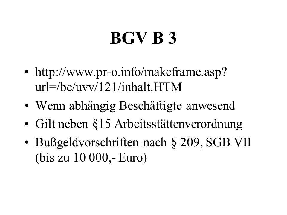 BGV B 3 http://www.pr-o.info/makeframe.asp url=/bc/uvv/121/inhalt.HTM