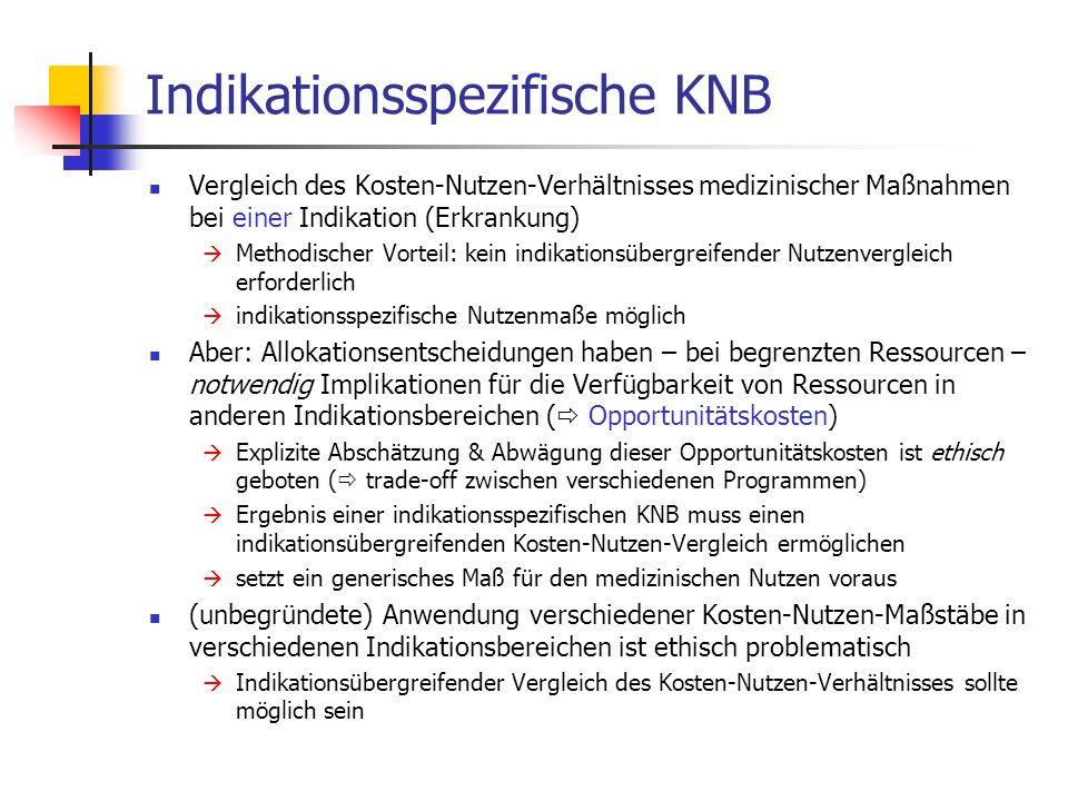 Indikationsspezifische KNB