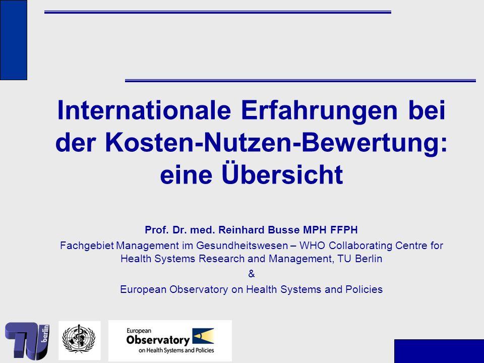 Prof. Dr. med. Reinhard Busse MPH FFPH