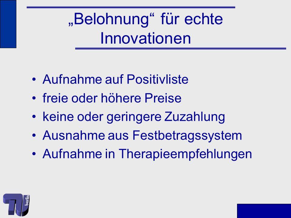 """""""Belohnung für echte Innovationen"""