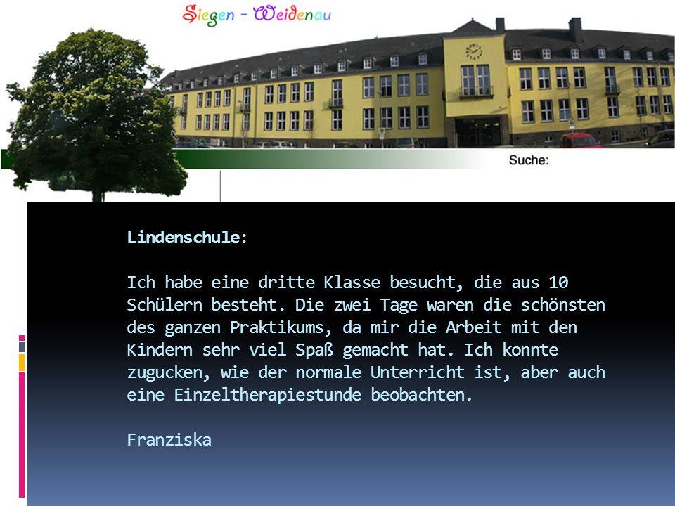 Lindenschule: Ich habe eine dritte Klasse besucht, die aus 10 Schülern besteht.