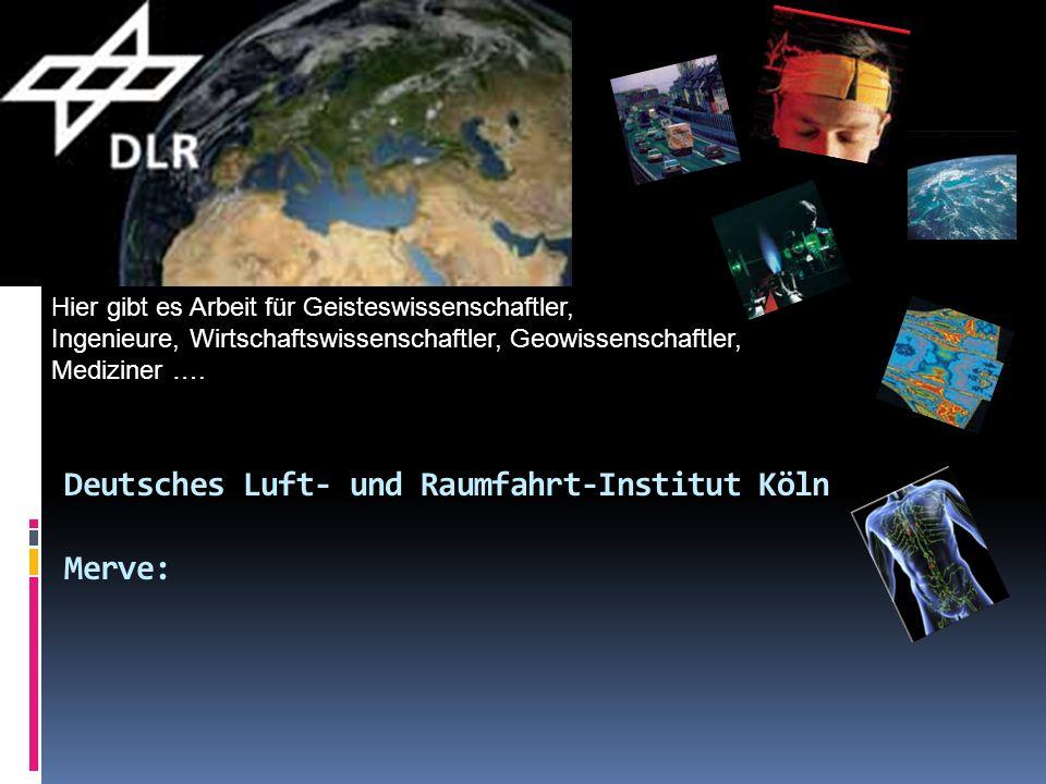 Deutsches Luft- und Raumfahrt-Institut Köln Merve:
