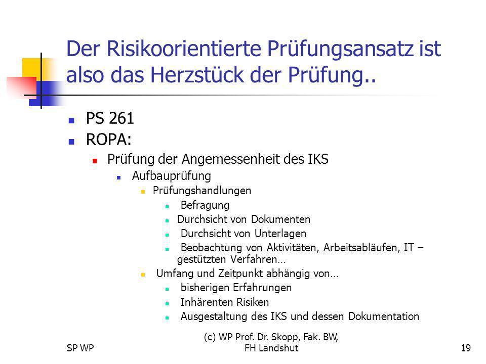 (c) WP Prof. Dr. Skopp, Fak. BW, FH Landshut