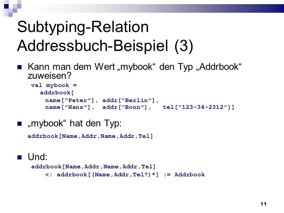 Subtyping-Relation Addressbuch-Beispiel (3)
