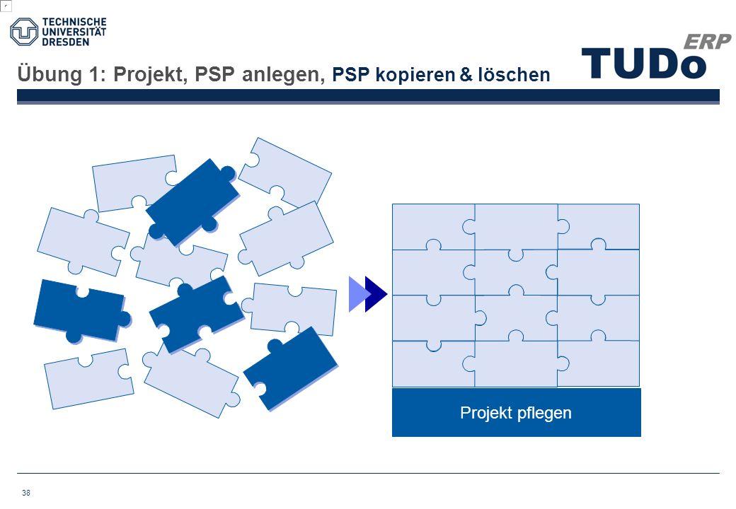 Übung 1: Projekt, PSP anlegen, PSP kopieren & löschen