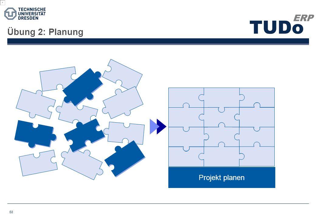 Übung 2: Planung Projekt planen 58