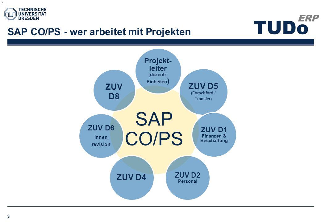 SAP CO/PS - wer arbeitet mit Projekten