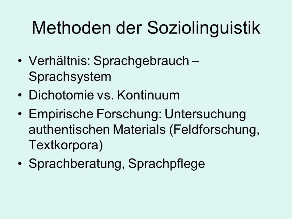 Methoden der Soziolinguistik