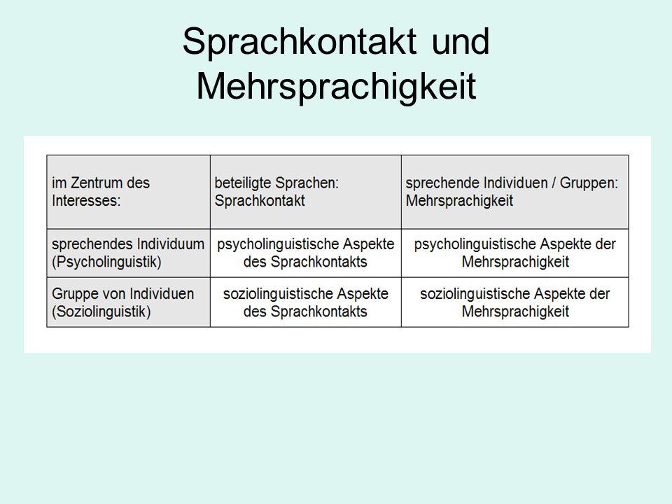 Sprachkontakt und Mehrsprachigkeit