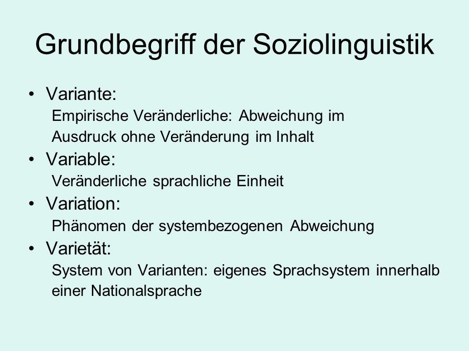 Grundbegriff der Soziolinguistik