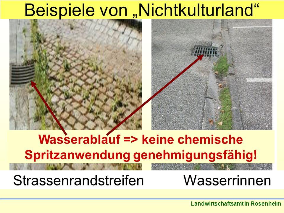 Wasserablauf => keine chemische Spritzanwendung genehmigungsfähig!