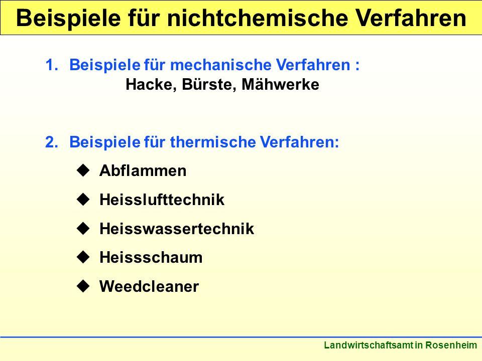 Beispiele für nichtchemische Verfahren