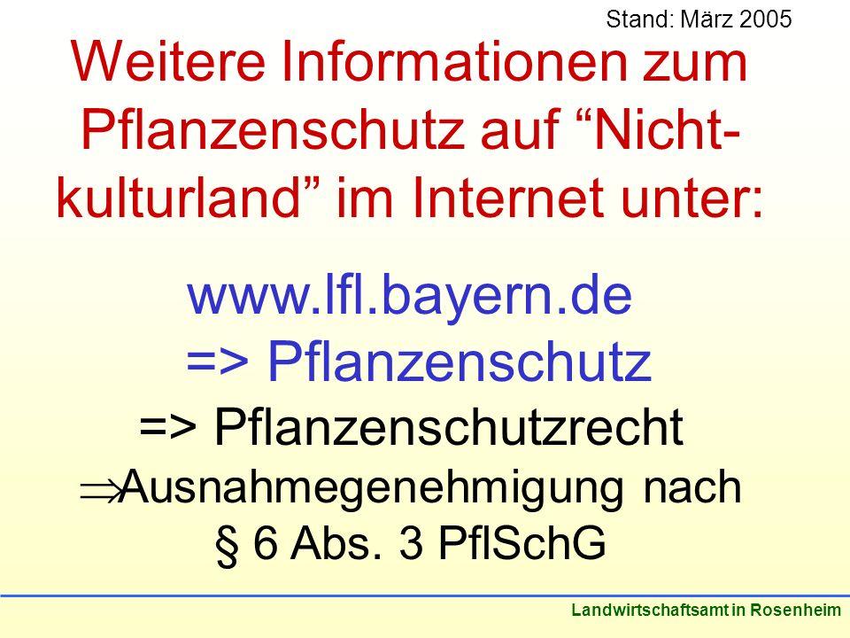 Weitere Informationen zum Pflanzenschutz auf Nicht-kulturland im Internet unter: