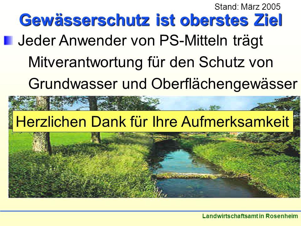 Gewässerschutz ist oberstes Ziel