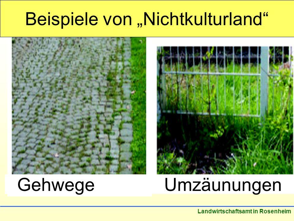 """Beispiele von """"Nichtkulturland"""