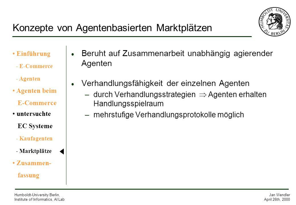Konzepte von Agentenbasierten Marktplätzen