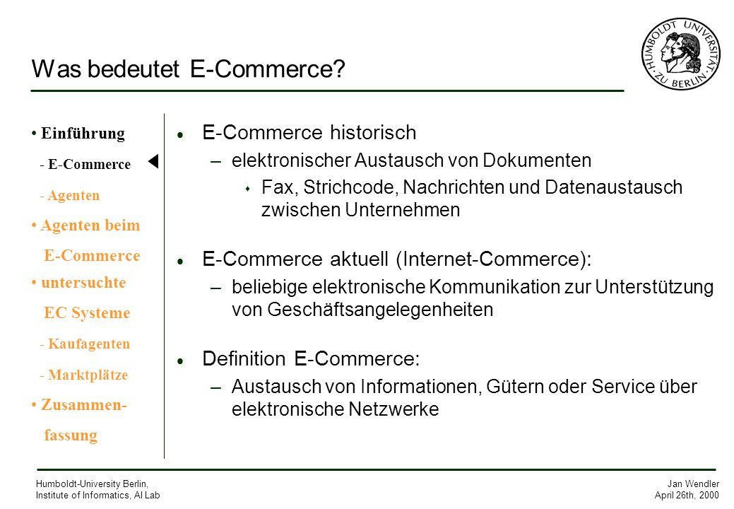 Was bedeutet E-Commerce