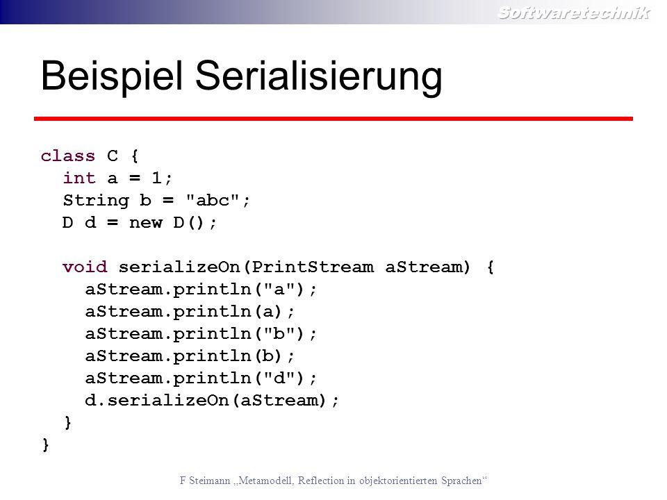 Beispiel Serialisierung