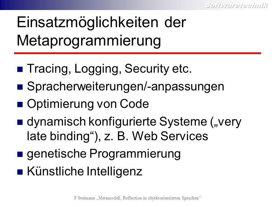 Einsatzmöglichkeiten der Metaprogrammierung