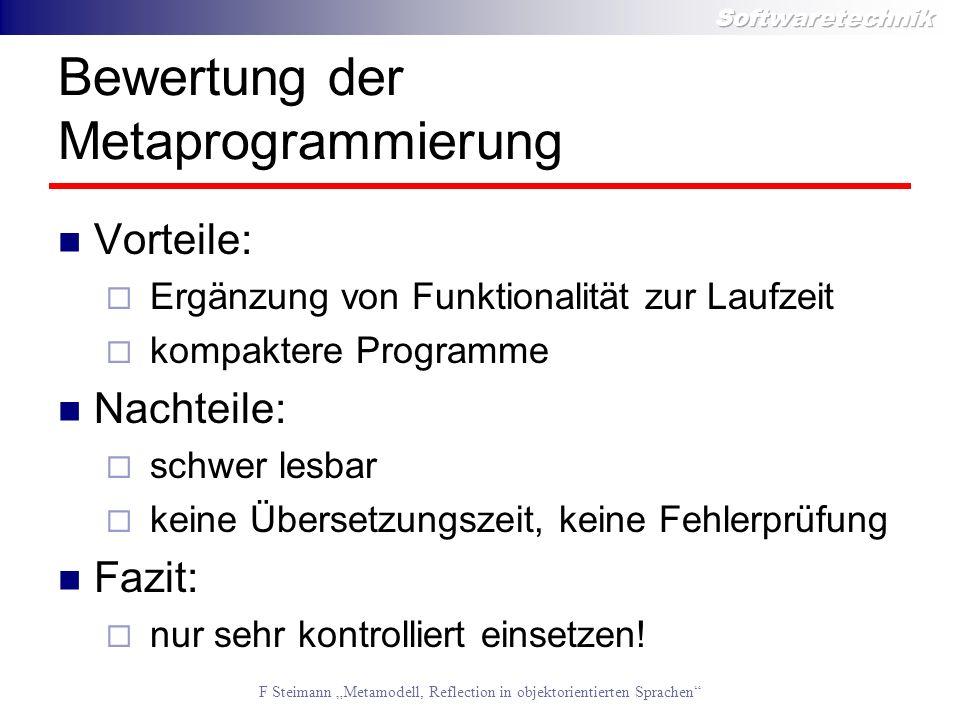 Bewertung der Metaprogrammierung