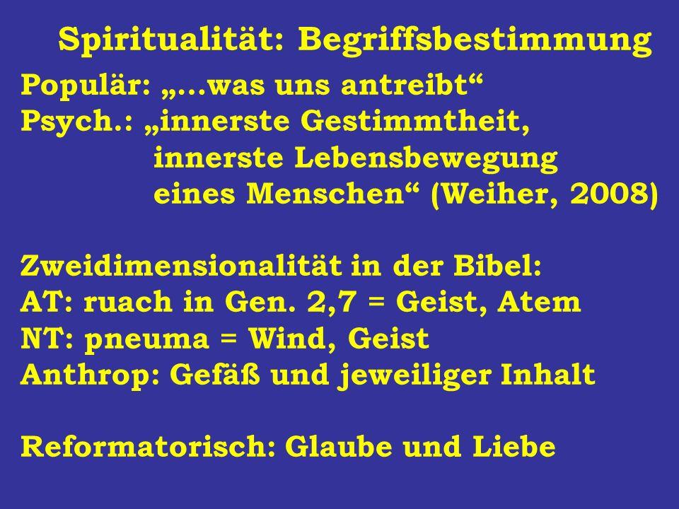 Spiritualität: Begriffsbestimmung