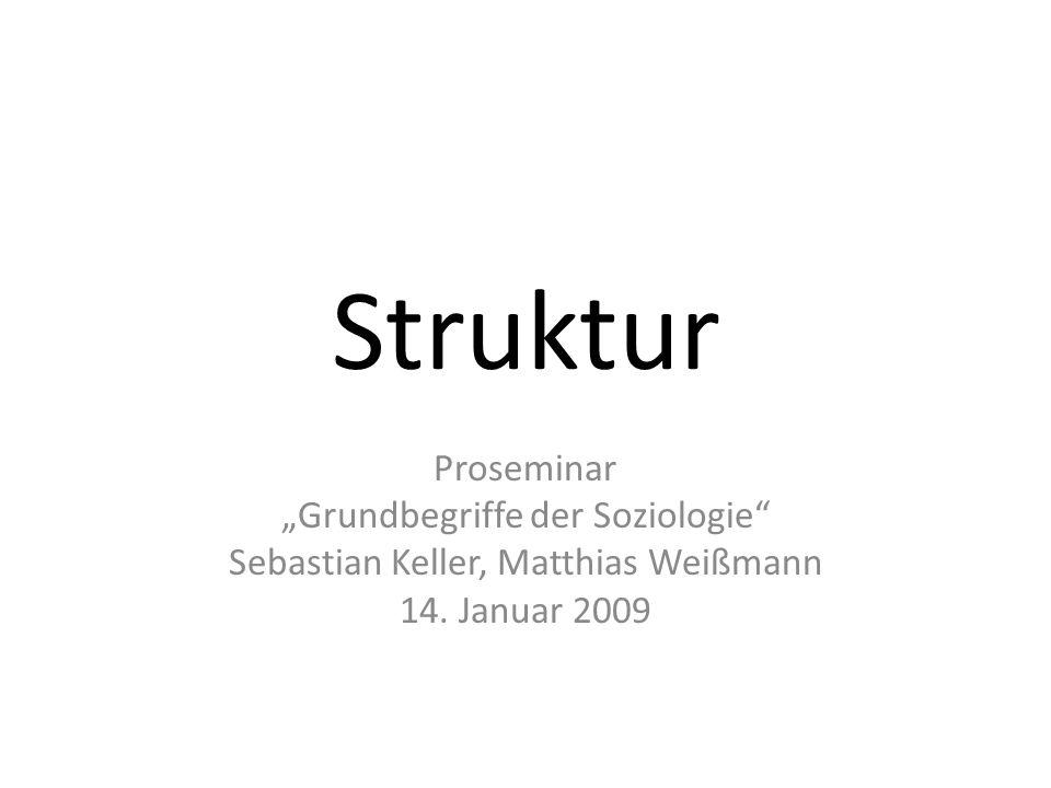 """Struktur Proseminar """"Grundbegriffe der Soziologie"""