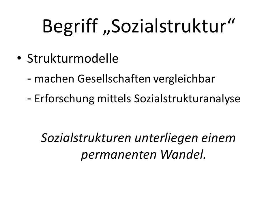 """Begriff """"Sozialstruktur"""