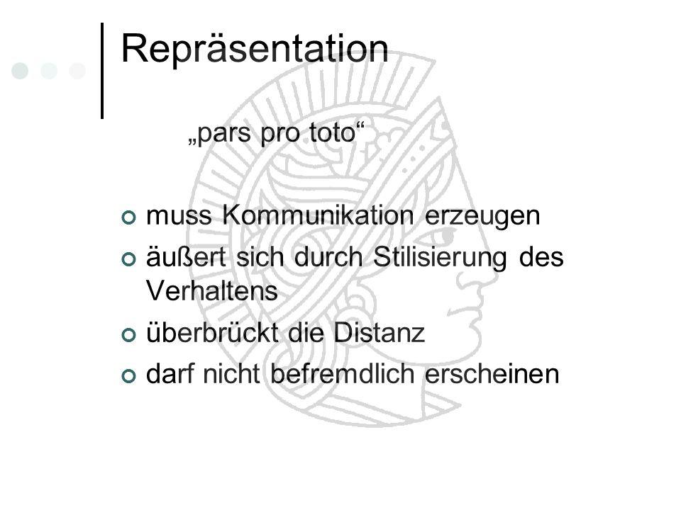 "Repräsentation ""pars pro toto muss Kommunikation erzeugen"