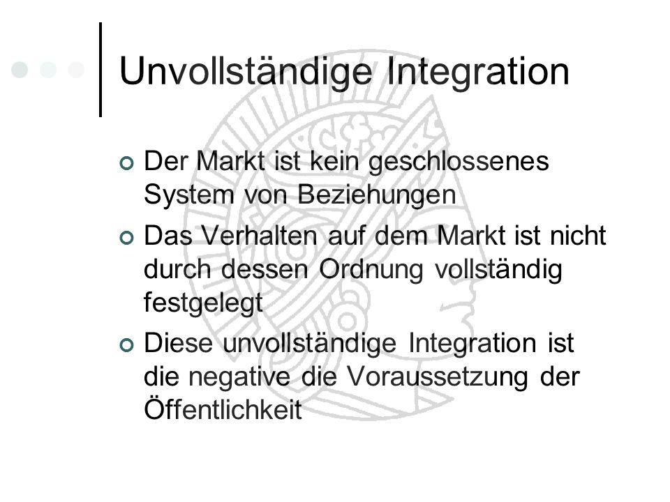 Unvollständige Integration