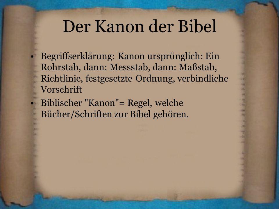 Der Kanon der Bibel
