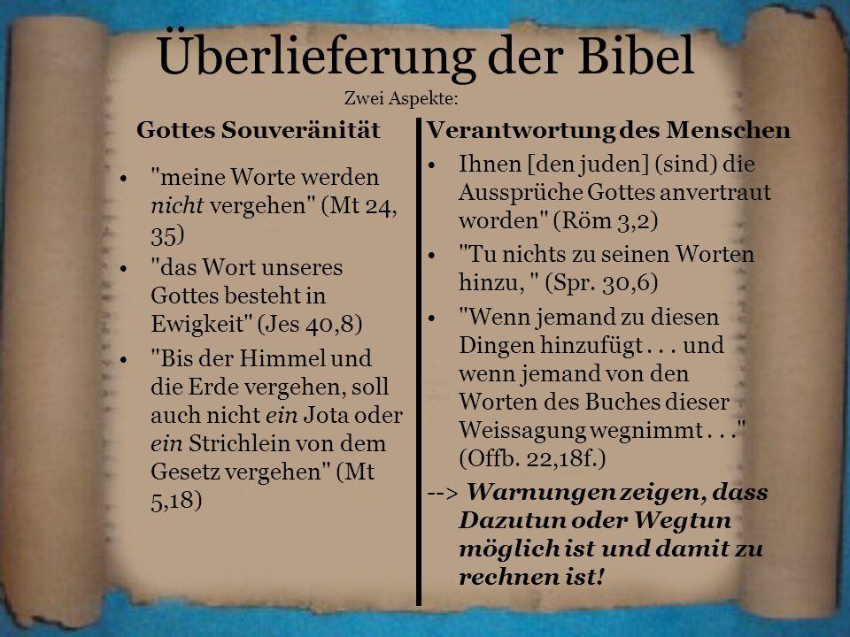 Überlieferung der Bibel