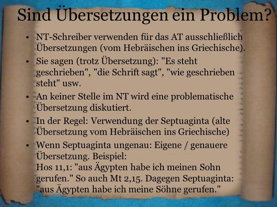 Sind Übersetzungen ein Problem