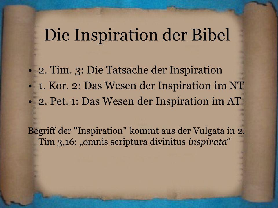 Die Inspiration der Bibel