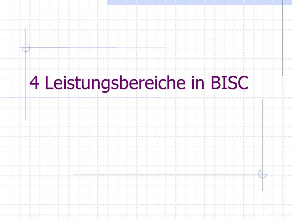 4 Leistungsbereiche in BISC