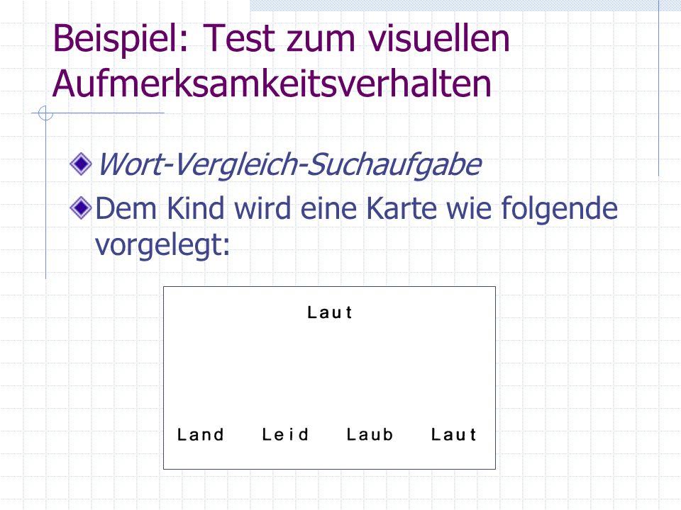 Beispiel: Test zum visuellen Aufmerksamkeitsverhalten