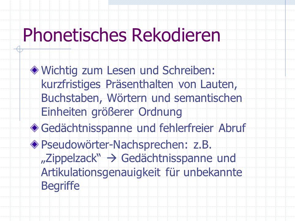 Phonetisches Rekodieren