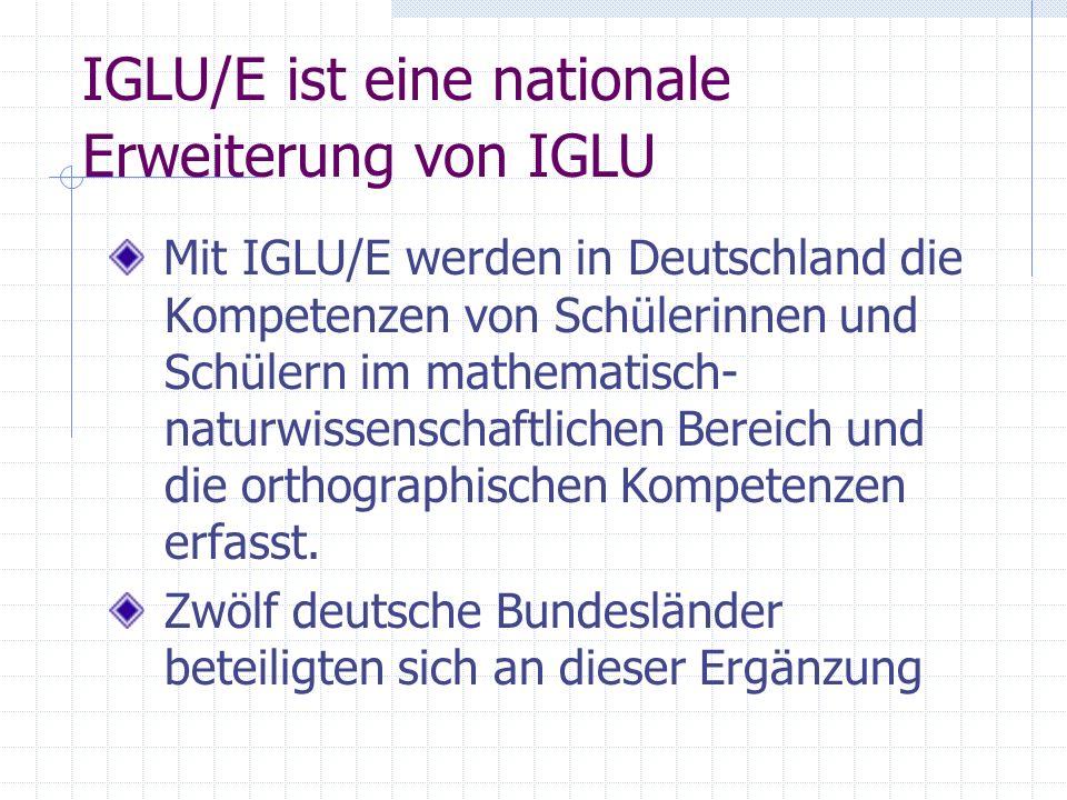 IGLU/E ist eine nationale Erweiterung von IGLU