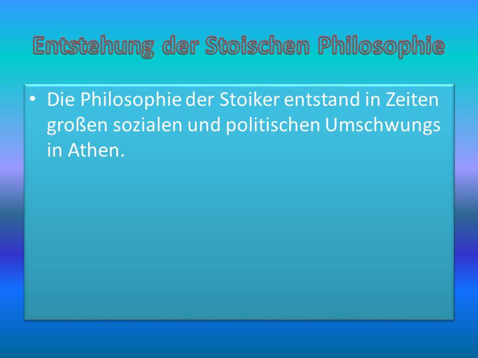 Entstehung der Stoischen Philosophie