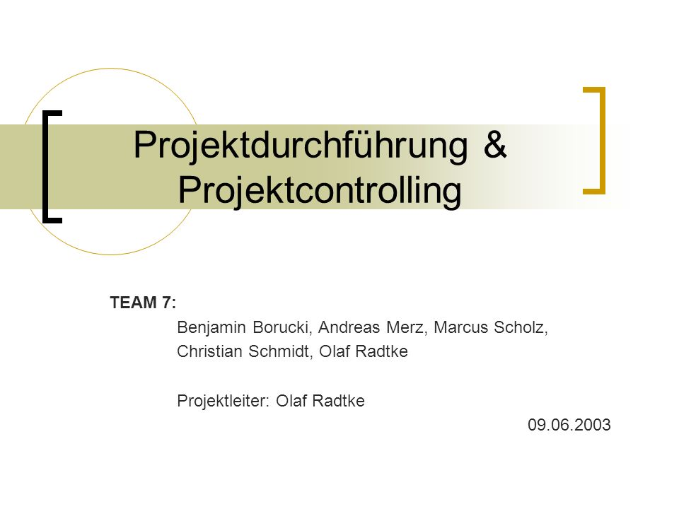 Projektdurchführung & Projektcontrolling